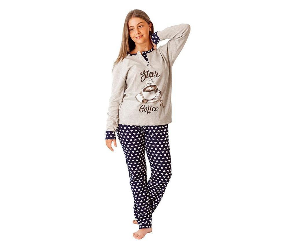 Pijama dama Coffee 3XL - a.apunto, Albastru