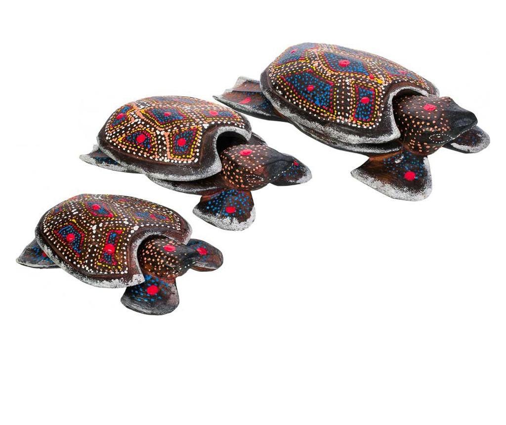 Set 3 decoratiuni Turtles - Creaciones Meng, Multicolor