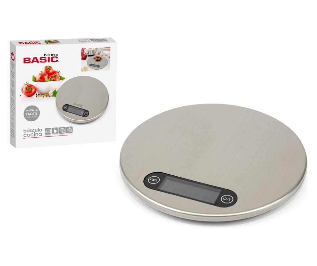 Cantar digital de bucatarie - Basic Home, Gri & Argintiu