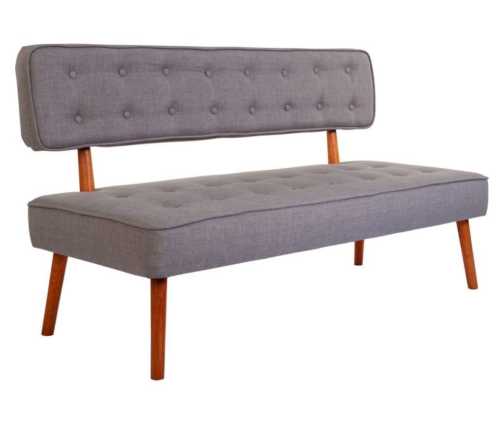 Canapea 2 locuri Westwood - Ze10 Design, Gri & Argintiu