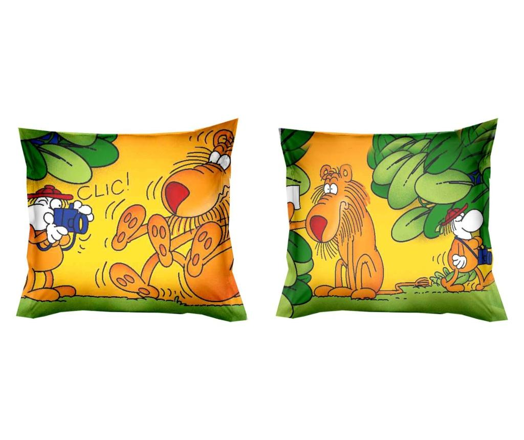 Set 2 fete de perna Giungla 40x40 cm, Polo Ovest, bumbac, multicolor - Polo Ovest, Verde