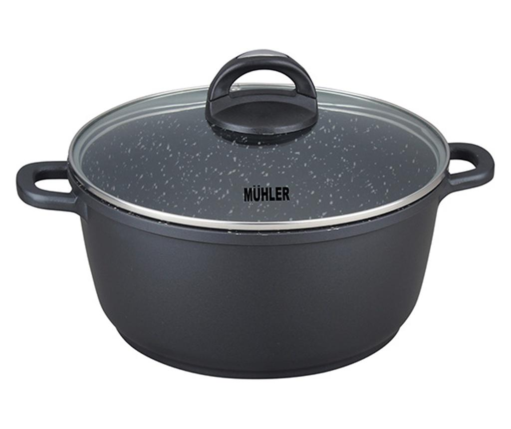 Oala cu capac Muhler 4.4L - Muhler, Negru
