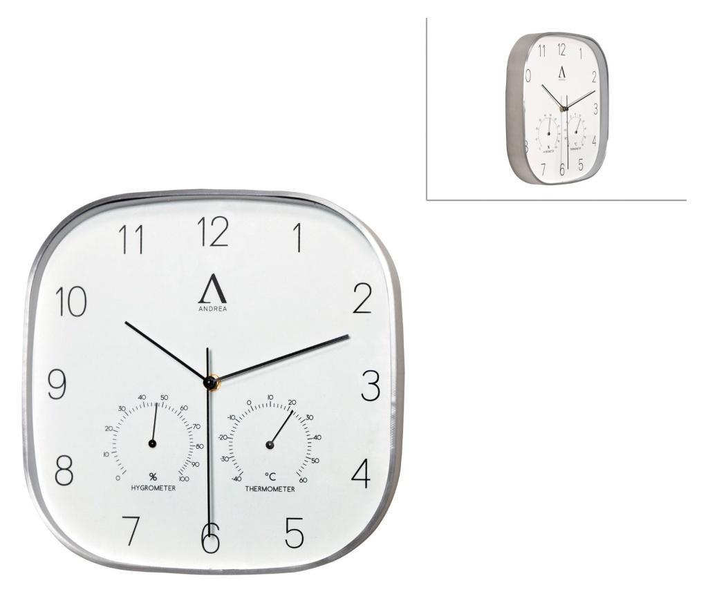Ceas de perete - Andrea House, Gri & Argintiu