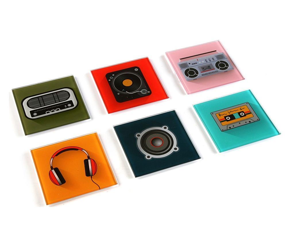 Set 6 coastere - Versa, Multicolor