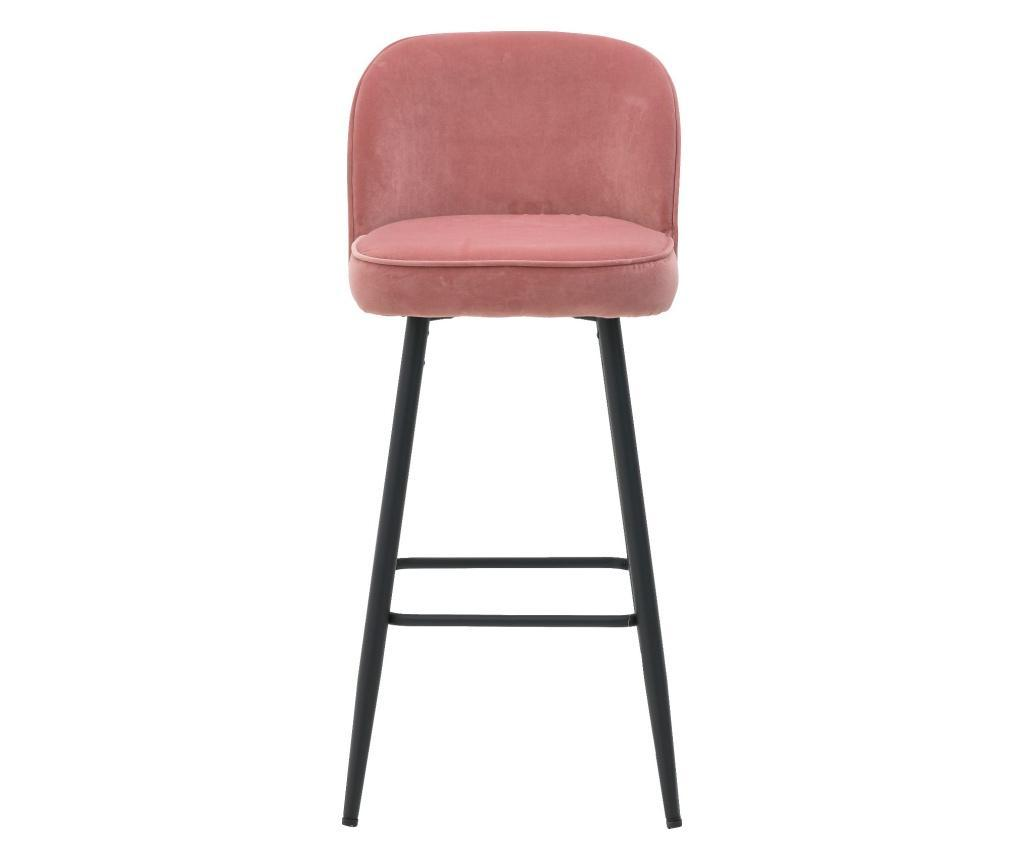 Scaun Bar Velvet Pink