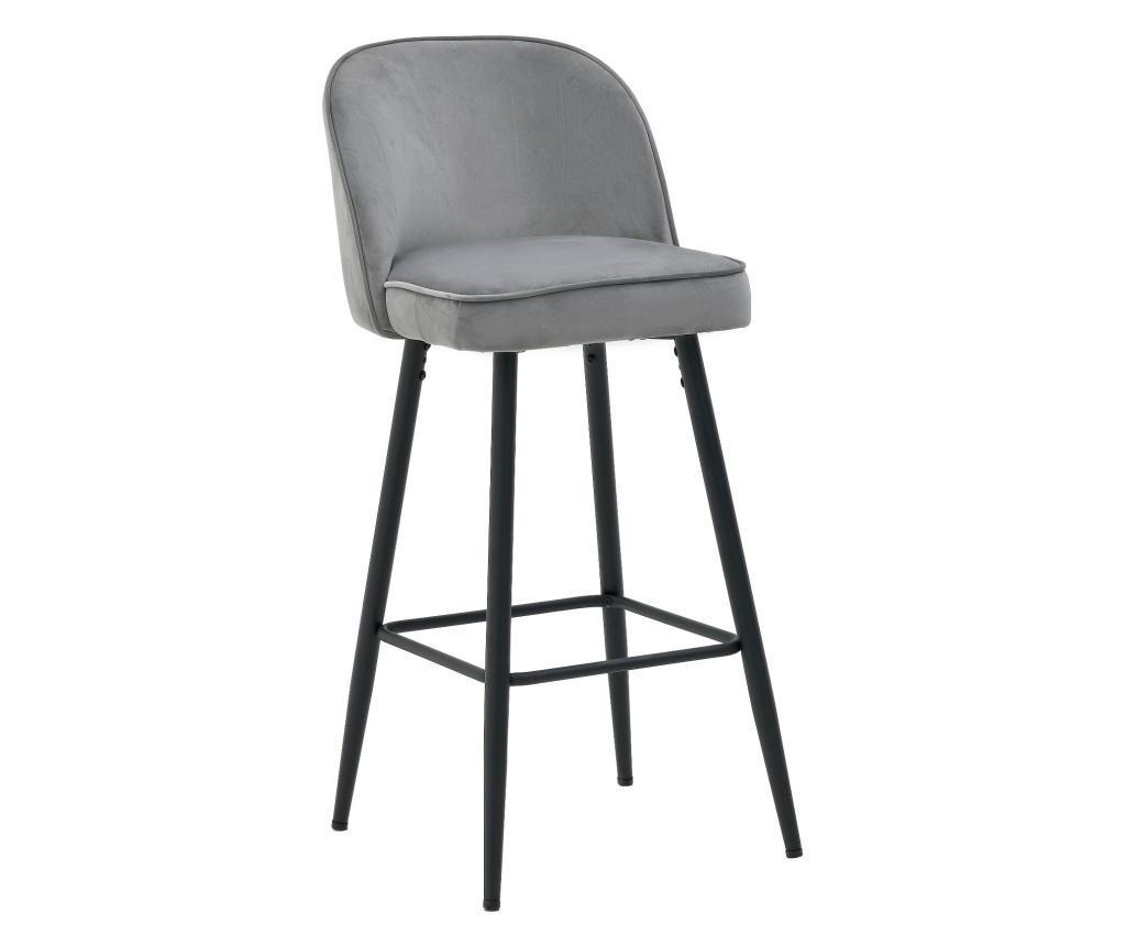 Scaun Bar Velvet Grey