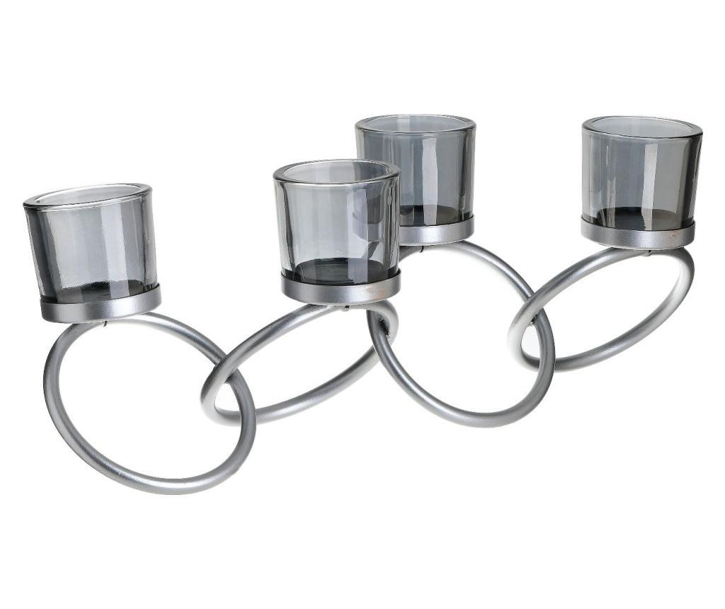 Suport pentru lumanare - inart, Gri & Argintiu