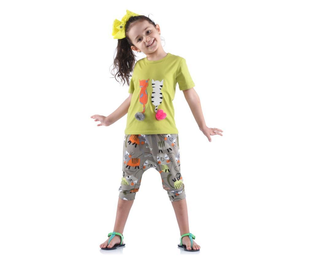 Set Pantaloni Trei Sferturi Si Tricou 4 Ani - Kid's Choice, Verde