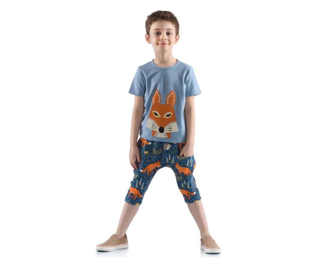 Set Pantaloni Trei Sferturi Si Tricou 4 Ani - Kid's Choice, Albastru