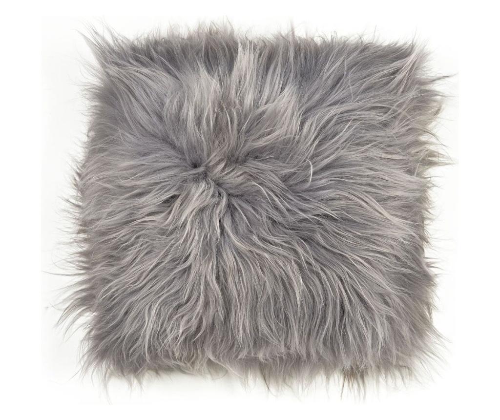 Poza Perna de sezut Icelandic 40x40 - Arctic Fur, Gri & Argintiu