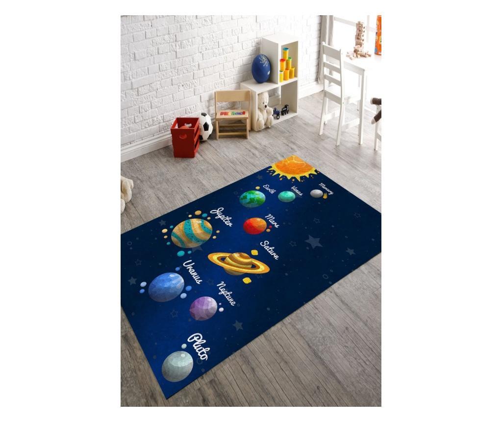 Covor Colorful Planets 160x230 cm - Rizzoli, Albastru